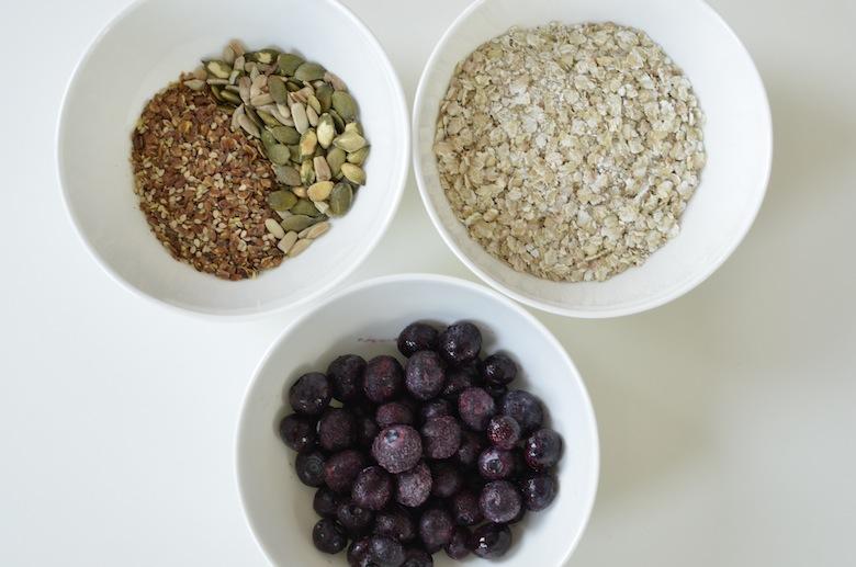 glutenvrij en suikervrij ontbijt met boekweitvlokken