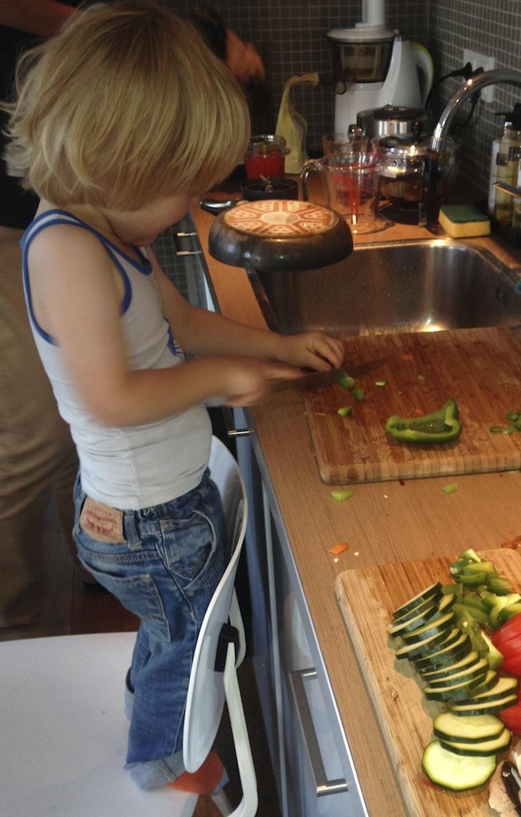 Speltdeeg pizza met groente topping