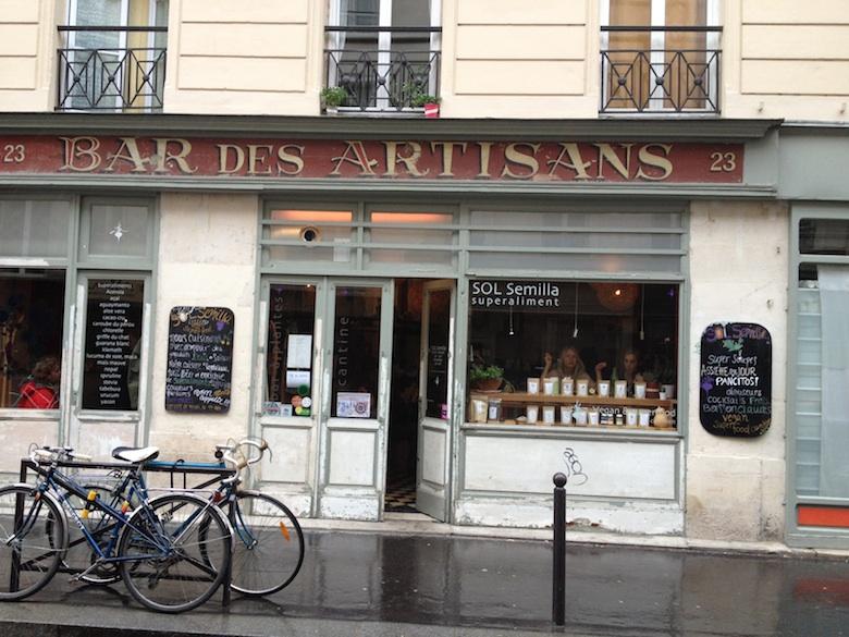 Vegan en Organic restaurant Sol Semillia in Parijs