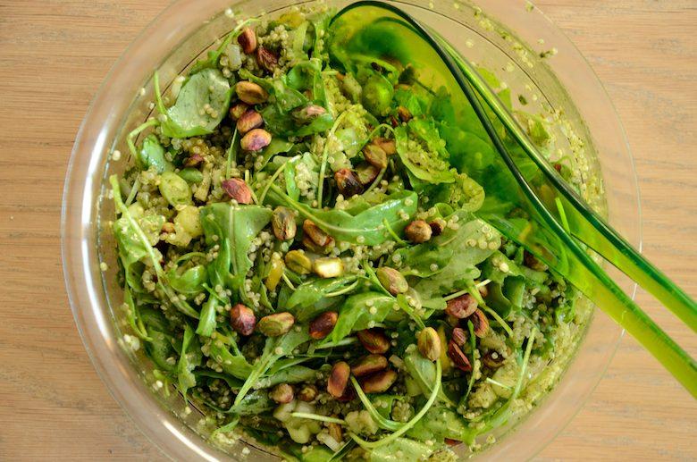 Quinoa Salade met groene kruiden