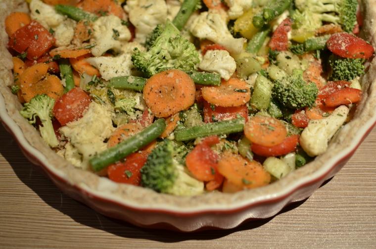 Vegan quiche met kikkererwtenmeel