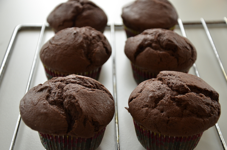 Vegan spelt cupcakes met chocolade