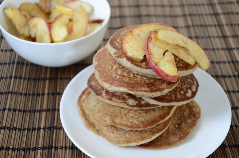 glutenvrije pancakes met perensap