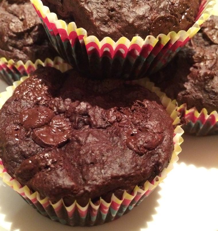 Chocolade muffin met bietjes