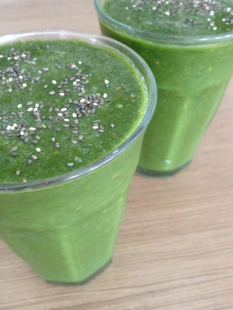 Detox time, groene smoothie met framboos