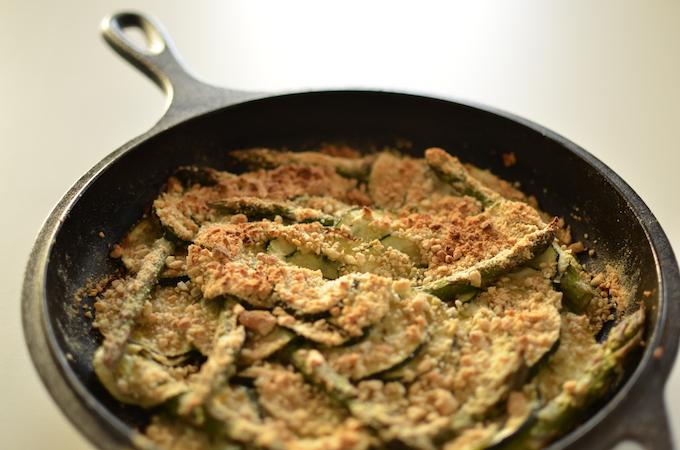 Courgette en asperge gratin net uit de oven