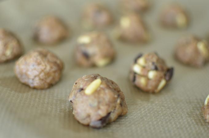 Deeg vegan chocolade koekjes