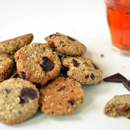 sesam chocolade koekjes zonder geraffineerde suiker