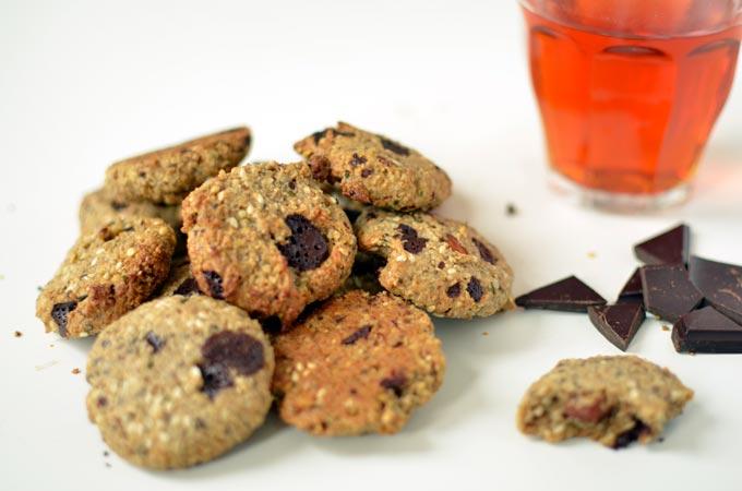 Glutenvrije chocolade koekjes zonder geraffineerde suiker