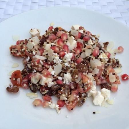 Salade met granaatappel