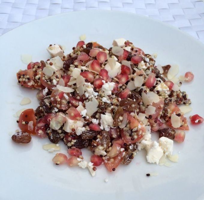 quinoa salade met granaatappel