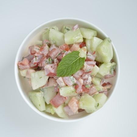 Pittige Midden Oosterse groente salade