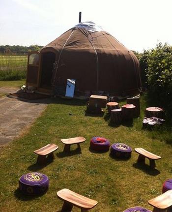 kirgizische yurt Buitenplaats Plantage