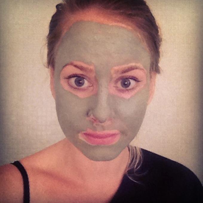 #clayfie met mijn groene kleimasker