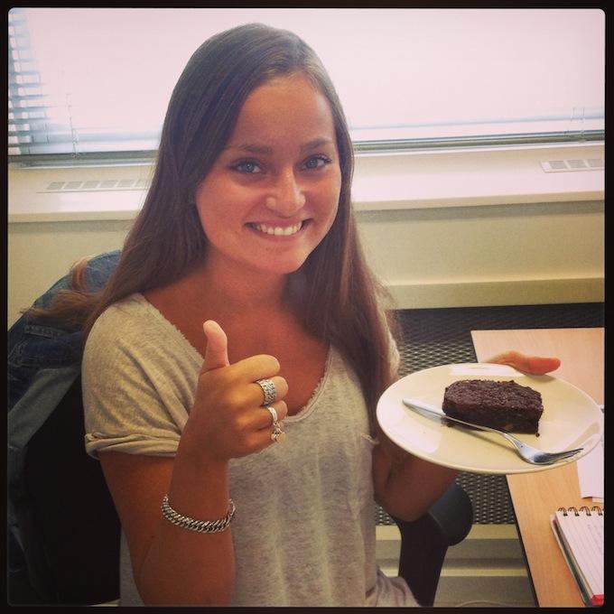 verjaardag brownie