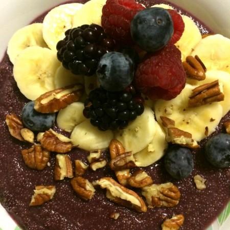 Amaranth ontbijt met fruit