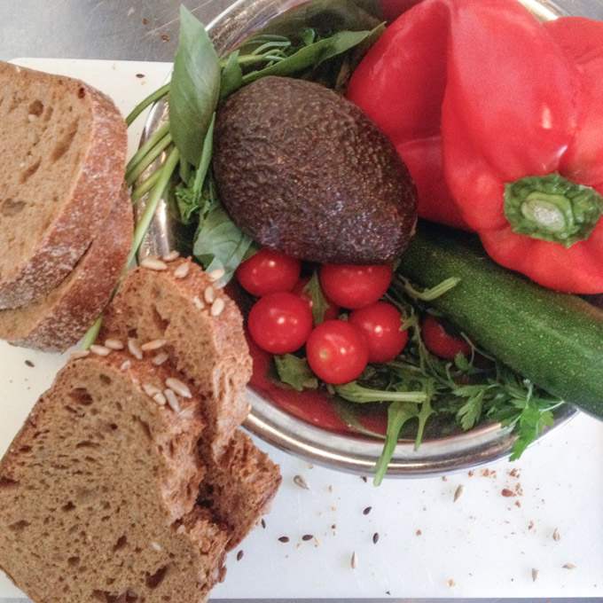 Ingrediënten voor tosti zonder kaas