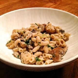 Herfstige pasta zonder vlees