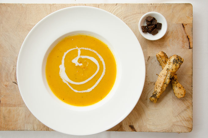 Kerst pastinaak wortel soep