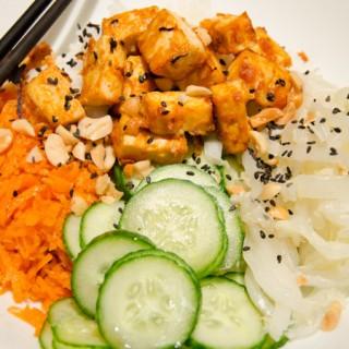 Koreaanse rijst met tofu