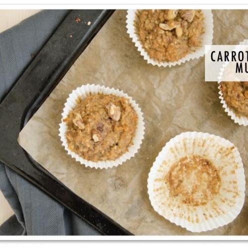 Carrot Cake Muffins - Gezonde Tussendoortjes kookboek