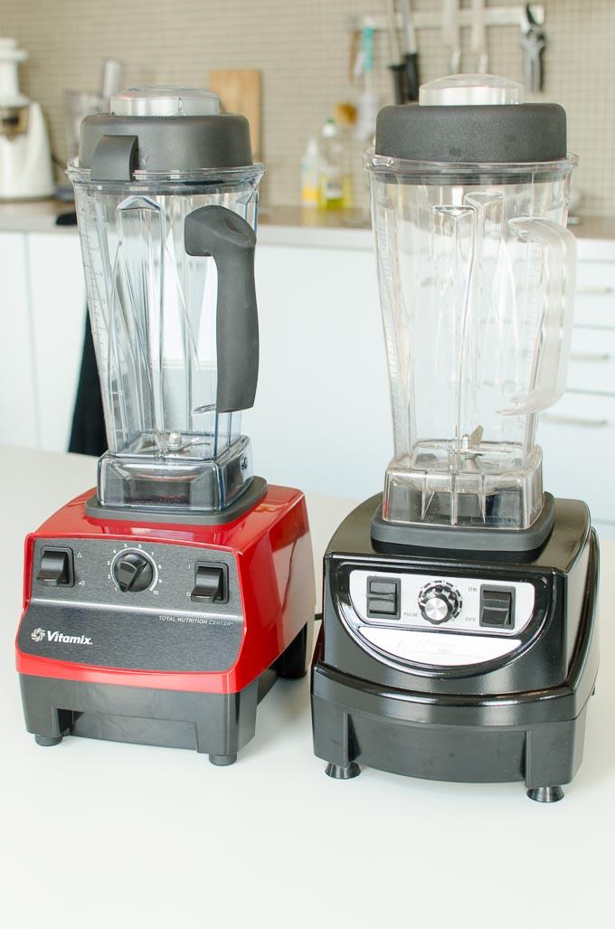 Vitamix 5200 en Optimum 9400 naast elkaar