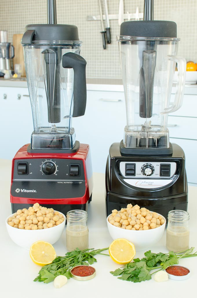 Vitamix 5200 en Optimum 9400 review: hummus maken