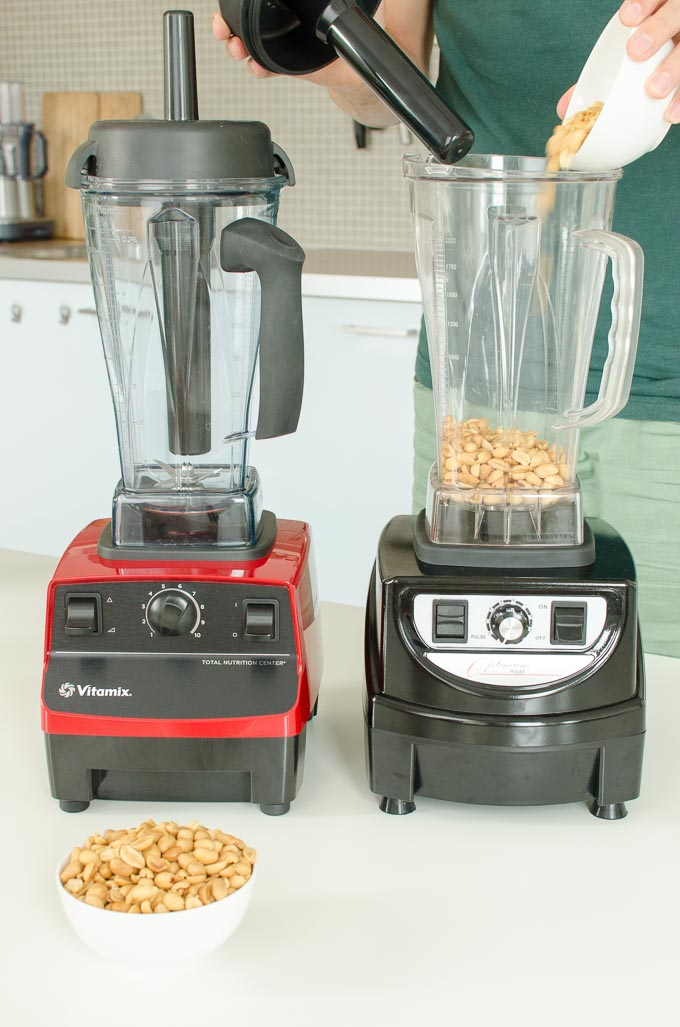 Vitamix 5200 en Optimum 9400 review: pindakaas maken 2