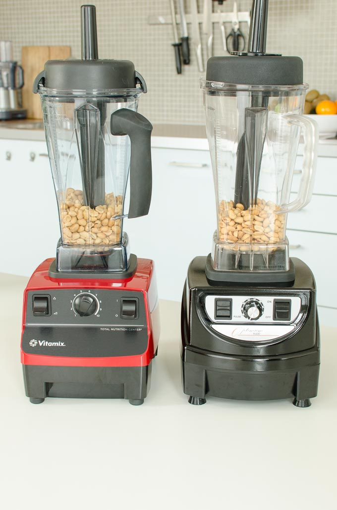 Vitamix 5200 en Optimum 9400 review: pindakaas maken 3